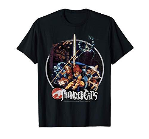 ThunderCats Group Shot Vintage Circle T-Shirt