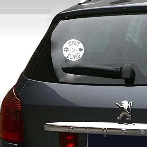 Promini Premium Anti-Staub-Vinyl-Aufkleber Husky On Board, hübscher Druck, Auto-Aufkleber für Auto, Laptop, Fenster, 15,2 cm