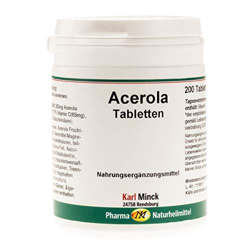 Acerola Vitamin C Tabletten, 200 Tabletten