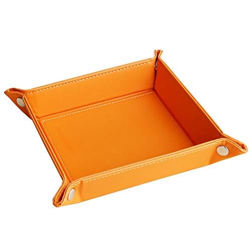 hongyupu aufbewahrungskorb körbe aufbewahrung Ablagekorb Beistelltisch Aufbewahrungskörbe für Regale kleine Box zur Aufbewahrung Schreibtischaufbewahrung orange