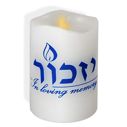 Rite Lite LED Flameless Yizkor Memorial Candle with Flickering Flame