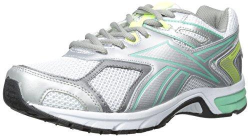 Reebok Quickchase - Zapatillas de Running para Mujer, Blanco (White/Silver/Solar Yellow/Mint Glow), 9.5 W US