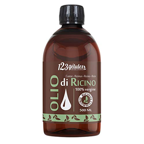 Olio di Ricino 500 ml -100% virgine -1a spremitura...