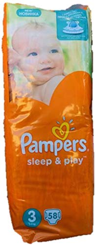 NEU 50 PAMPERS WINDELN, SLEEP UND PLAY, Gr. 4, 9-14 KG