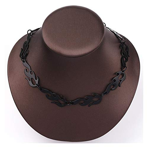 TFGUOqun Fashion Necklace ladies hip hop punk style barbed wire chain necklace gifts for friends For feminine decoration (Metal Color : XL1285)