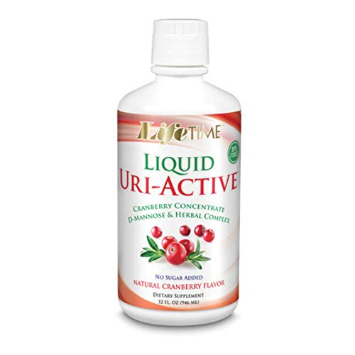 Lifetime Uri-a Countive with Asparagus & Cranberry Liquid Cranberry, 32 Fluid Ounce