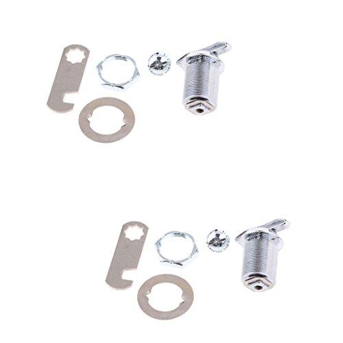 dailymall 2 Piezas de Cerradura Sin Llave de 25mm Key Lock Uiversal para Cajón de Escritorio Del Gabinete de Coches