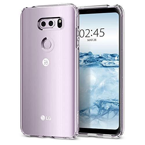 Spigen [Liquid Crystal] LG V30 / LG V30 Plus / LG V30S ThinQ Hülle (A25CS21981) Transparent TPU Silikon Handyhülle Kratzfest Durchsichtige Schutzhülle Flex Case (Crystal Clear)