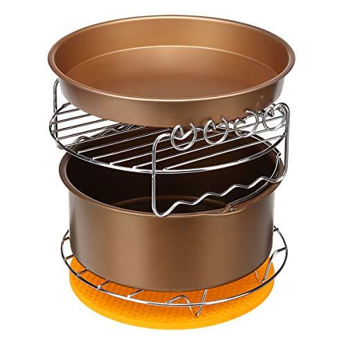DyNamic 6Pcs 8 Inch Air Fryer Accessoires Set Cake Pizza Roast Barbecue Bakken Pan