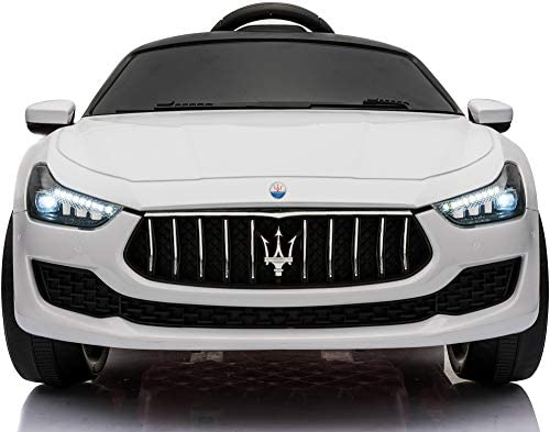 TOBBI Kids Ride On Car Maserati 12V Rechargeable Toy Vehicle w MP3 Remote Control White product image