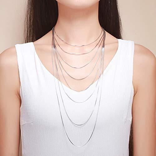 Collar de Cadena Fina de Plata de Ley 925 de 1mm para Mujeres, niños, niñas, niños, Hombres, joyería, joyería de Italia