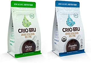 Sponsored Ad - Crio Bru 2 Pack 10 oz Light Roast Bundle | Organic Healthy Brewed Cacao Drink | Great Substitute to Herbal ...