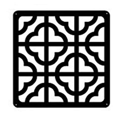 GUOQING 6pcs Pelotillas De Plexiglásico Creativo Retro Estilo Chino Sala De Estar Partición Cortina Decorativa 30 * 30 Cm Sala Divisor Pantallas (Color : Orange)