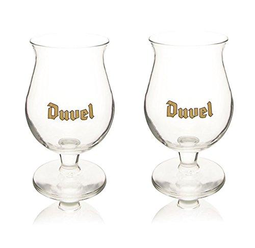 Belga vasos de cerveza Duvel Brewed por la fábrica Duvel moortgat (2unidades)