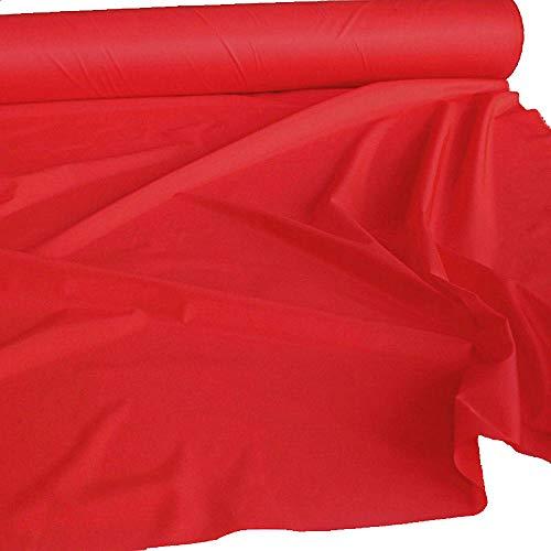 TOLKO 1m Futterstoff   Futter-TAFT als Dekostoff universal Stoff zum Nähen Dekorieren   Blickdicht knitterarm   150cm breit Modestoff Hochzeitsstoff Kleiderstoff Kostümstoff Meterware (Rot)