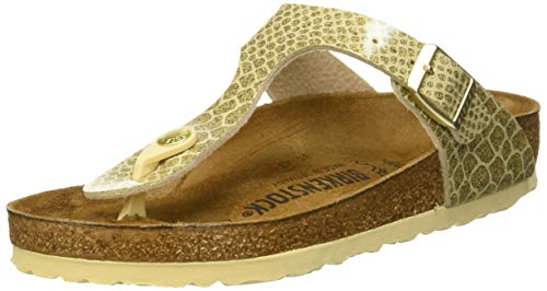 BIRKENSTOCK Damen Gizeh Zehentrenner, Gold (Magic Snake Gold Magic Snake Gold), 39 EU