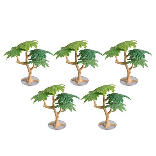 TOYANDONA 5pcs Model Trees Train Trees Mini Pine Tree Cake Topper Architecture Tree Scenery Landscape Model Tree Moss Bonsai Micro Landscape DIY Ornament Cake Decor