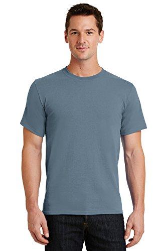 Port & Company Men's Essential T Shirt L Stonewashed Blue