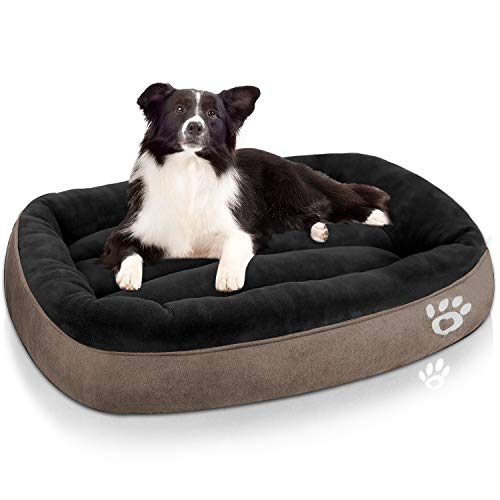 TR pet Dog Bed Large (XL/XXL/XXXL) Washable   Big Calming Pets Dogs Bed for Small, Medium, Large Size Dog Breeds   Warm Rectangle Couch Bed   Non-Slip& Waterproof Bottom