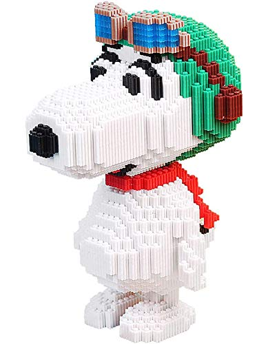 QSSQ Nano Micro Blocks, Mini Cartoon Snoopy Building Blocks, Dog 3D Puzzles DIY Educational Toys, Gift for Adults And Children