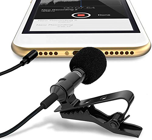 OAHU® Collor Mic|Digital Noise Cancellation Clip Collar Mic Condenser for YouTube Video | Interviews | Lectures Travel Videos Mike for Mobile