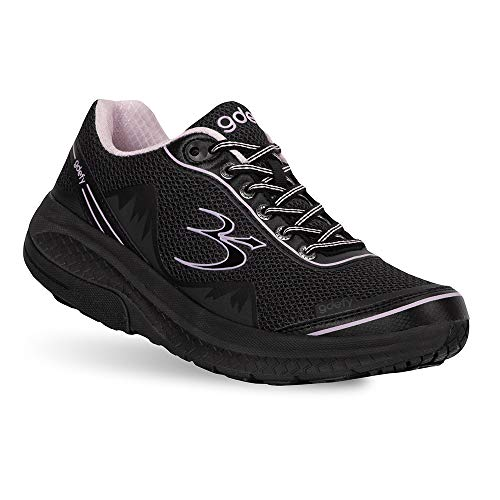 Gravity Defyer Pain Relief Women's G-Defy Mighty Walk Athletic Women's Walking Shoes 9 W US - Diabetic Shoes for Plantar Fasciitis - Black, Purple