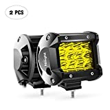 Workhorse FasTrack FT1261 Performance Engine Cooling - Nilight - 18031S-B Amber 2PCS 4Inch 36W Triple Row Spot LED Light Bar 3600LM Driving Lights Fog Light Led Off Road Lights for Trucks Jeep UTV ATV Marine Boat,2 Years Warranty