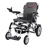 LOLRGV Faltbare Elektro-Rollstuhl leichte, tragbarer Antrieb Transport Reiserollstuhl mit 20Ah Lithium-Batterie -