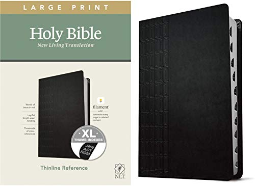 Compare Textbook Prices for NLT Large Print Thinline Reference Holy Bible Red Letter, LeatherLike, Cross Grip Black, Indexed: Includes Free Access to the Filament Bible App ... Notes, Devotionals, Worship Music, and Video Large type / Large print Edition ISBN 9781496445346 by Tyndale