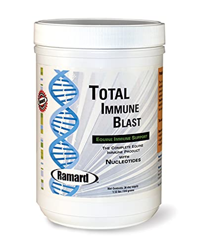Ramard Total Immune Blast Supplements for Horses - Equine Immune Support with Nucleotides - Omega 3, Omega 6 & Vitamin A - Supports Normal Immune Responses in Foal and Horses - 1.12 lb 30-Day Supply