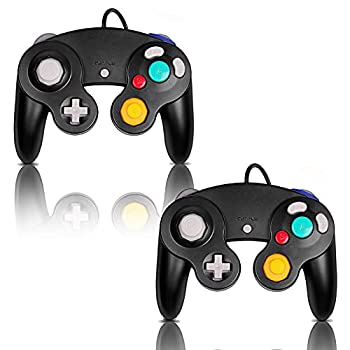 Gamecube Controller Classic Wired Controller for Wii Nintendo Gamecube  Black-2Pack