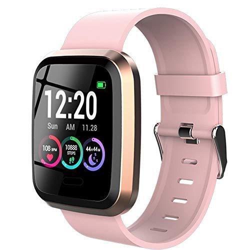 Dough.Q Smartwatch, Reloj Inteligente Pulsera Actividad Inteligente con Pulsómetro, Monitor de Sueño, Podómetro, Calorías Mujer Hombre para iOS y Android