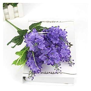YSQSPWS Artificial Flowers Romantic Decoration Artificial Lavender Flower Colorful (Color : Lilac Colour)