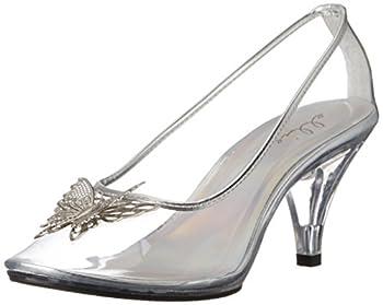 Ellie Shoes Women s 305-CINDER Clear 9 B US