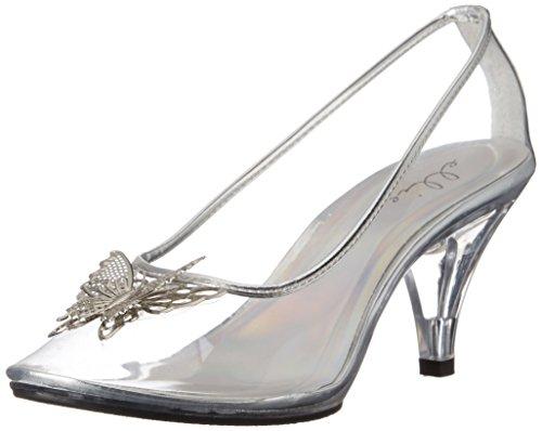 Ellie Shoes Women's 305-CINDER, Clear, 9 B US