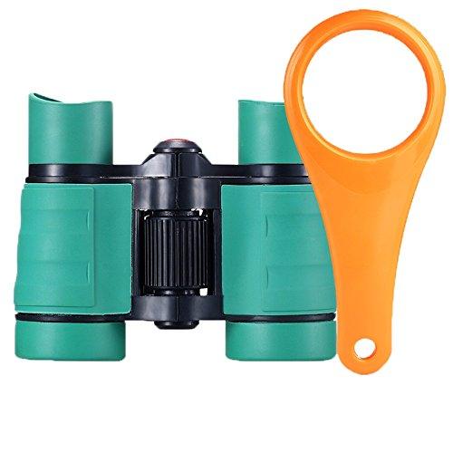 PIGE 4X30 Fernglas Einsteiger Teleskop Handheld für 2-4Jahre Alt Kinder Kinder süß Zum Anschauen Outdoor Aktivitäten Buntes Spielzeug (Farbe : Green, größe : 2#)