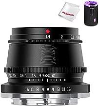TTArtisan 35mm F1.4 Manual Focus APS-C Format Fixed Lens for Fuji Fujifilm X-Mount Cameras X-A1 X-A10 X-A2 X-A3 X-A5 X-H1 X-T1 X-T10 X-T2 X-T20 X-T100 X-PRO1 X-PRO2 ect. (Black)