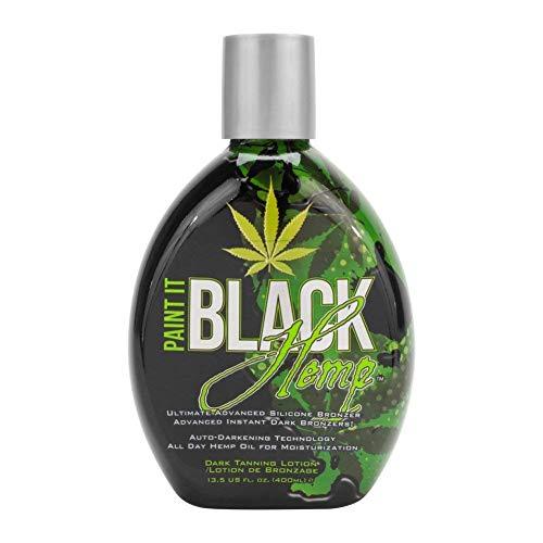 Millennium Tanning Products - Paint It Black Hemp Bronzer & Dark Tanning Lotion - 13.5 Ounce
