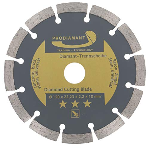 PRODIAMANT Disco corte diamante 150 mm hormigón