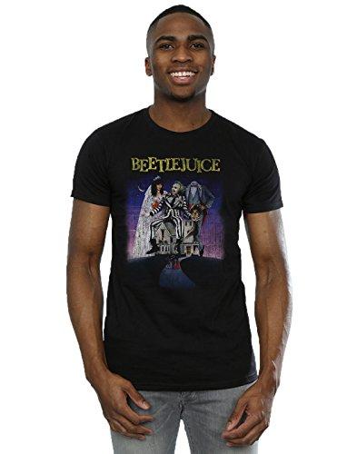 Men's Distressed Beetlejuice Poster T-shirt