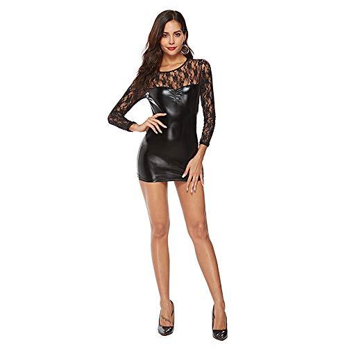 Sexy Dessous Imitation Leder Lackleder Nachtclub Uniform Temptation Rock