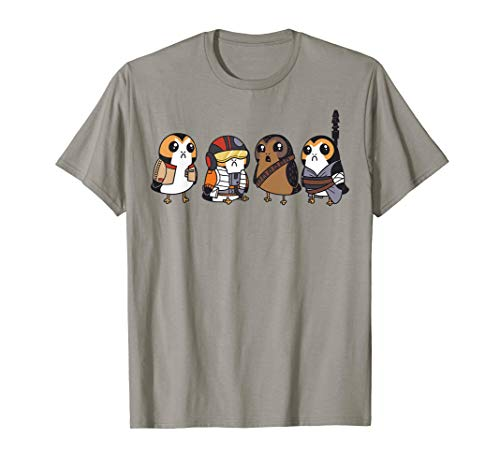 Star Wars Cute Porgs Dressed As Characters Portrait T-Shirt