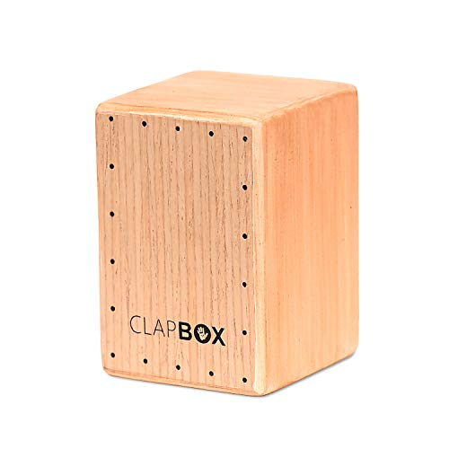 Clapbox Sound Shaker- Mini Cajon Design, Rubber Wood (Natural), beige (CB-101)