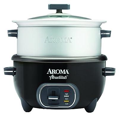 Aroma Housewares SRC-1020-1BT Aroma Housewares Abuelitas Specialty Rice Cooker, Black