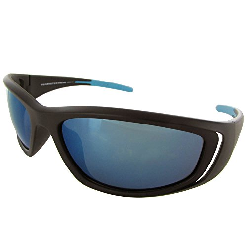 Vuarnet Extreme Unisex VE5001 Athletic Plastic Sunglasses, Matte Black