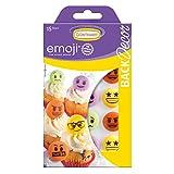 BackDecor 15 Zucker Emoji, bunt | gelb | grün | orange | aus Zucker mir emoji Aufdruck