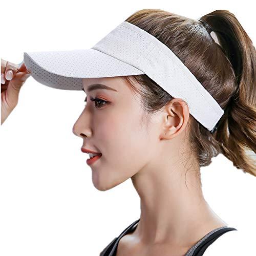 HNJZX Visor Sonnenhüte – Outdoor Hut Laufen Tennis Golf Sonnenblenden Kappe Sport Freizeit Schatten Visier Verstellbare Kappe für Unisex Sport Sonnenblende Training (E)