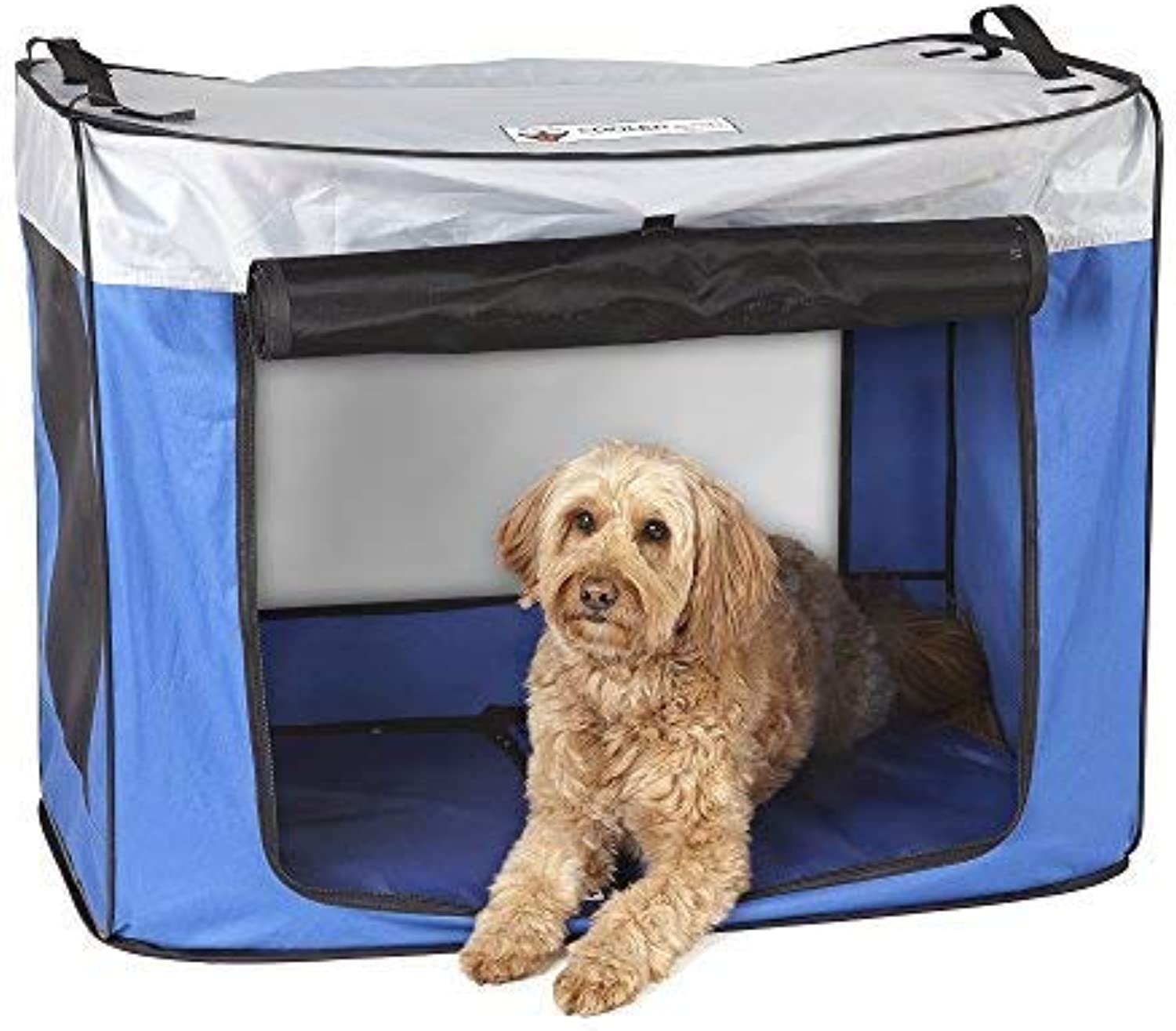 CoolerDog PupUp Pop Up Dog Shade Tent Kennel, Portable Sun Predection for Your Pet