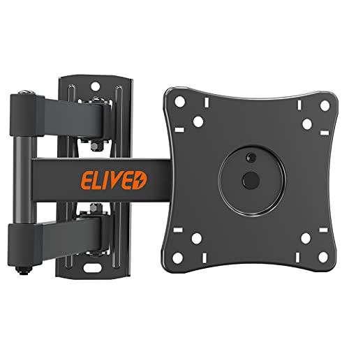 ELIVED Monitor Wandhalterung Schwenkbar Neigbar für die meisten 14-30 Zoll Bildschirme bis 15kg, Max VESA 100x100mm, TV Wandhalterung für LED, LCD, OLED Flach/Curved TVs, Wandhalter Fernseher EV026