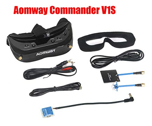 2019 Newest Version! Aomway Commander V1S Diversity 3D 64CH 5.8G FPV Goggles w/DVR Support HDMI (Upgrade of Commander V1)